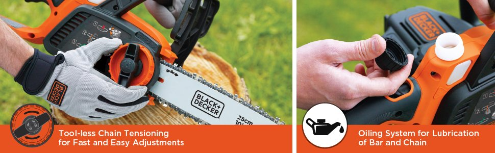 Black + Decker Electric Cordless Chainsaw